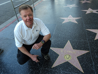 Allen at the W.C. Fields Star on Hollywood Blvd.