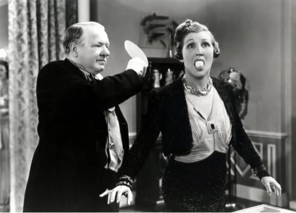 Still of W.C. Fields and Jan Duggan.