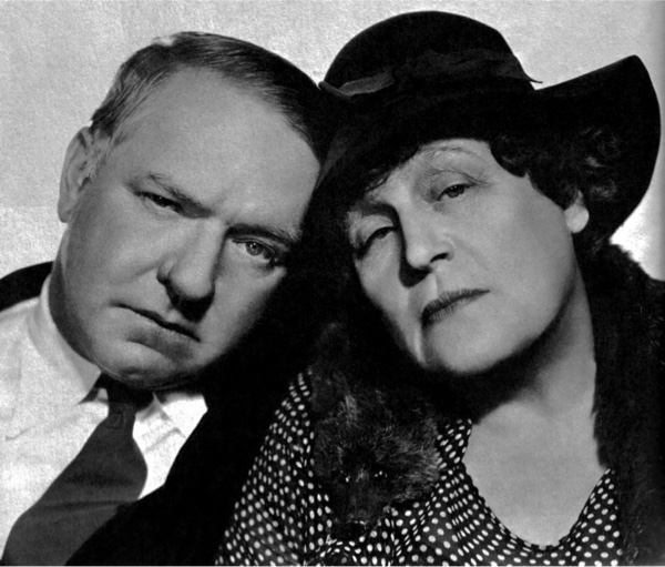 Studio portrait of W.C. Fields and Alison Skipworth.