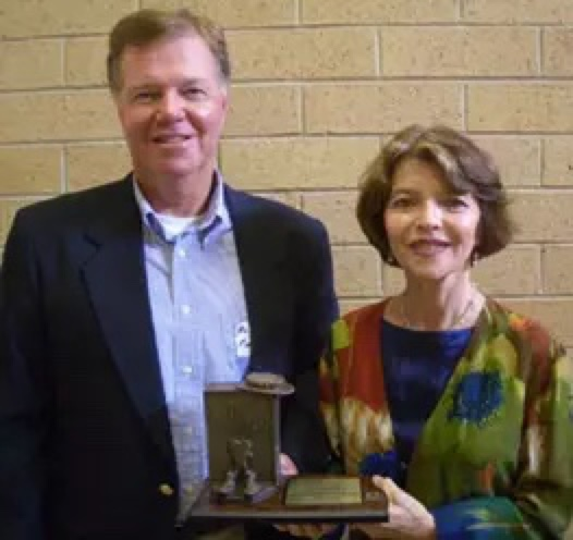 Allen Fields and Dr. Harriet Fields accept Buster Award 2005.