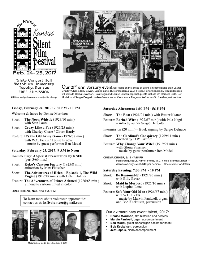 21st Annual KSFF flyer recto side.