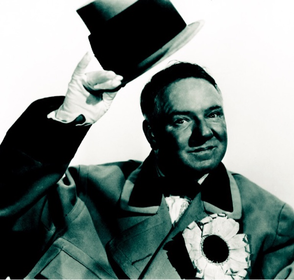 W.C. Fields tipping top hat.